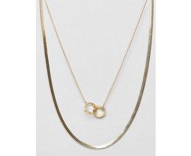 ASOS: Collier avec chaîne multirang style vintage et pendentif cercles entrelacés à 7,99€