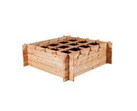 Bricorama: Carré potager Vercors - en mélèze brut, 100x100x30 cm à 29,90€ au lieu de 40,50€