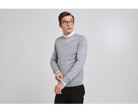 Jules: Pull col rond laine mérinos à 18€ au lieu de 35,99€