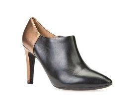 Brandalley: Geox caroline - low boots en cuir - bronze à 49,90€ au lieu de 145€