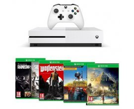 Amazon: Xbox One S 1 To Assassin's Creed Origins & Rainbow Six : Siege + Wolfenstein II + PUBG à 302,66€