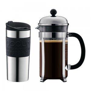 Code promo MaSpatule : Remise de 30% sur le coffret cafetière chambord (1L) et son Travel Mug Inox (35cl) noir