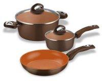 Darty: Set 5 pièces Bialetti : 1 Poêle, 1 faitout, 1 casserole, 2 couvercles à 44,99€ au lieu de 79€