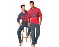 3 Suisses: Lot de 2 pyjamas longs homme au prix de 48,99€ au lieu de 69,99€