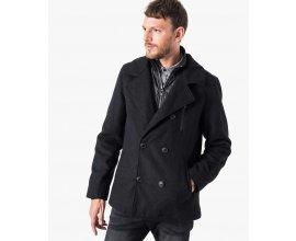 GÉMO: Manteau en laine avec parementure façon blouson zippé à -40%