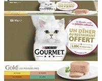 Purina: 1 diner dans un restaurant offert pour l'achat de 2 produits GOURMET