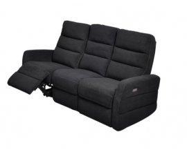 Fly: Canapé 3 places relax elect.tissu noir/fil blanc au prix de 999,90€ au lieu de 1299€