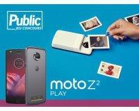 Public: Un smartphone Motorola Moto Z²Play et son module insta-share Polaroid à gagner