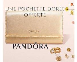 Pandora: 1 pochette dorée Pandora offerte dès 99€ d'achat de bijoux