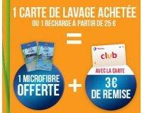 Total: 1 microfibre offerte pour tout achat ou recharge d'1 carte de lavage TOTAL Wash