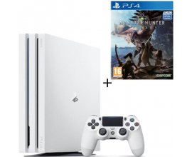 Cdiscount: PS4 Pro Blanche 1 To + Monster Hunter World Jeu PS4 à 409,99€ au lieu de 469,98€