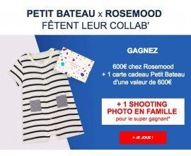 Petit Bateau: 1 shooting photo et 1 200 € x 5 chez Rosemood et Petit Bateau à gagner
