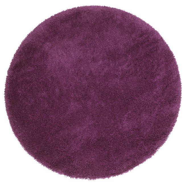 Code promo Alinéa : Tapis Shaggy rond D160cm violet à 53,94€ au lieu de 89,90€