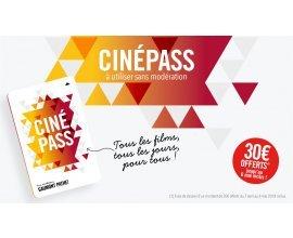 Gaumont Pathé: Frais de dossier (30€) offerts sur les cartes CinéPass