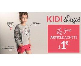 Kidiliz: [Kidi Days] Le 3ème article acheté à 1€ parmi une sélection
