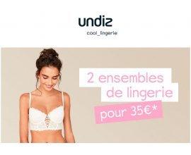Undiz: 2 ensembles lingerie pour 35€