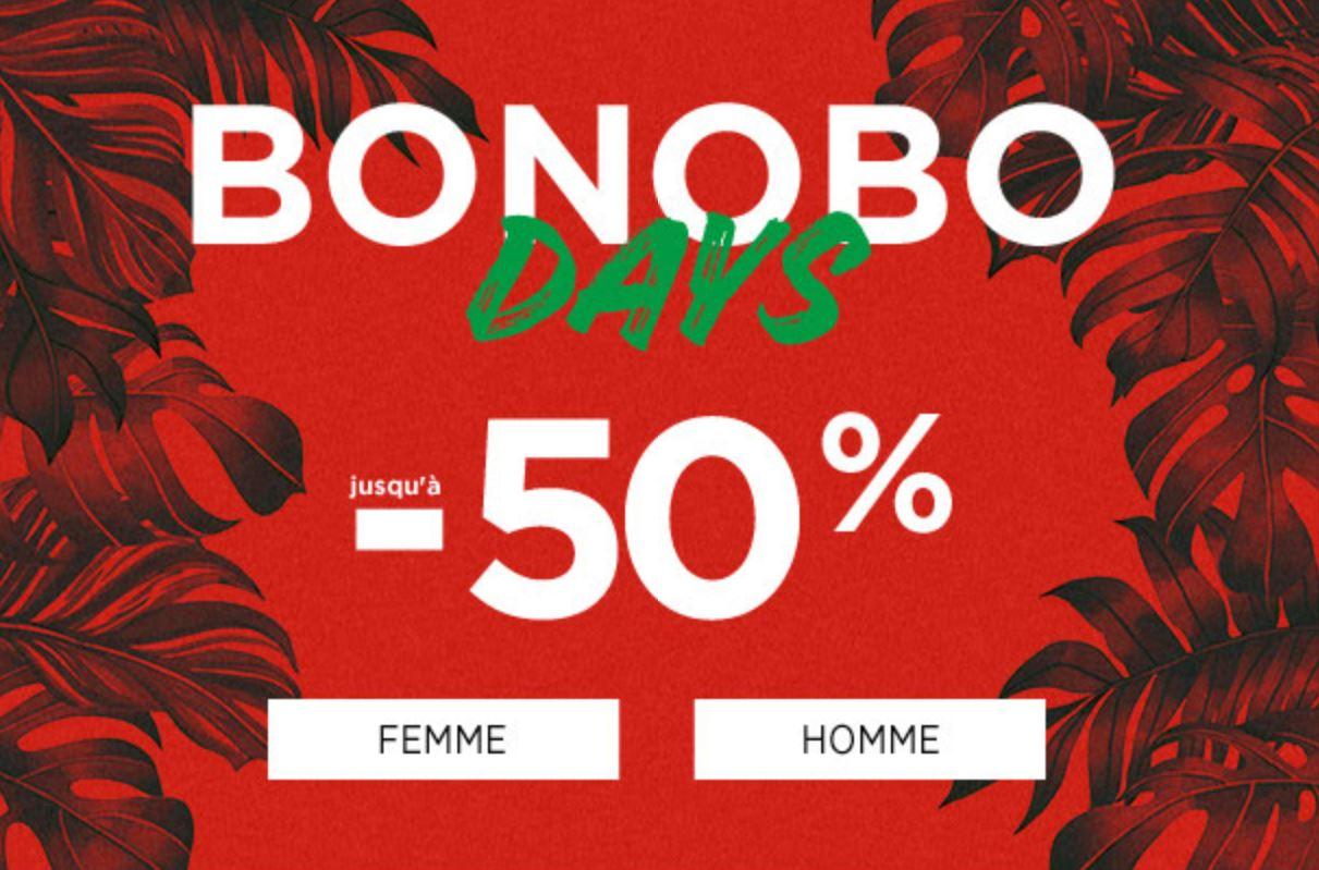 Code promo Bonobo Jeans : [Bonobo Days] Jusqu'à -50% sur une sélection d'articles