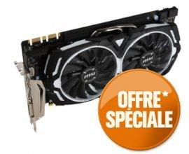 GrosBill: Carte Graphique MSI GeForce® GTX 1080 ARMOR 8G OC à 649,90€ au lieu de 689.95€