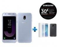 Rue du Commerce: Smartphone SAMSUNG - Galaxy J3 2017 - Bleu + Coque + Verre trempe à 189€ au lieu de 229€