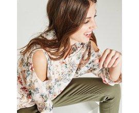Promod: Chemise à épaules dénudées imprimé floral multicolore au prix de 25,16€ au lieu de 35,95€
