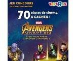 ToysRUs: 70 places de cinéma pour le film Avengers : Infinity War à gagner