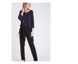 Bonobo Jeans: Pantalon city à noeud femme forme carotte noir  au prix de 27,99€ au lieu 39,99€