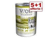 Zooplus: 1 boîte en cadeau pour l'achat de 5 boîtes de 400 g de nourriture humide Wolf of Wilderness