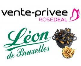 Vente Privée: Rosedeal Léon de Bruxelles : payez 1€ pour 12€ de bon d'achat