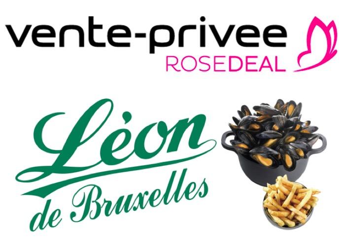 Code promo Veepee : Rosedeal Léon de Bruxelles : payez 1€ pour 12€ de bon d'achat