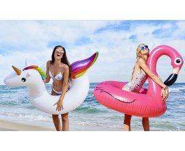 Groupon: Bouée gonflable XXL Licorne ou Flamant Rose à 9,95€