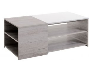 Fly: Table basse chene gris/blanc LUNEO à 85,10€