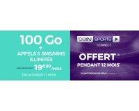 Cdiscount: Forfait 100 Go (appels, SMS et MMS illimités) et BEIN SPORTS CONNECT offert à 19,99 € par mois