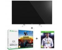 "Auchan: TV LED 49"" UHD 4K Panasonic TX-49EX600E + XBOX One S 1To + PUBG + FIFA 18 à"
