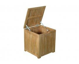 Delamaison: Coffre de rangement en acacia Fsc 45x45x50cm 101L Jardin secret à 79€ au lieu de 99€