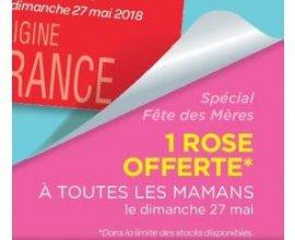 Carrefour: 1 rose offerte à toutes les mamans le dimanche 27 mai