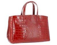 Rue du Commerce: Sac à main Dupond Durand en cuir Tombsor croco rouge d'une valeur de 79,90€ au lieu de 189,90€
