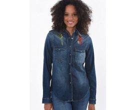 E-Leclerc: Chemise en jeans à broderie fleur coupe regular d'une valeur de 42,50€ au lieu de 85€
