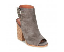 Spartoo: Jeffrey Campbell - Sandales nu pied gris en cuir d'une valeur de 107,20€ au lieu de 134€
