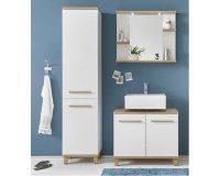 BUT: Miroir de salle de bain avec PALAOS 3 tablettes chêne à 84,34€ au lieu de 119,99€