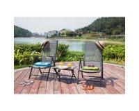Cdiscount: Lot de 2 Chaises pliantes en aluminium et textilène + table d'appoint à 79,99€ au lieu de 155,99€