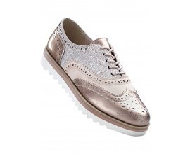 Bonprix: Chaussures basses derbies MarcoTozzi rose/argent métallique au prix de 37,99€ au lieu de 42,99€