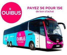 Showroomprive: Payez 5€ le bon d'achat OUIBUS d'une valeur de 15€