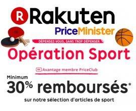 Rakuten: 30% remboursés minimum sur une sélection d'articles de sport