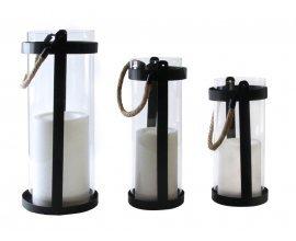 Delamaison: Lanterne Led effet flamme à piles Leblanc Illumination d'une valeur de 26,90€ au lieu de 29,90€