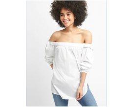 GAP: Tunique femme blanche en popeline épaules dénudées d'une valeur de 14,99€ au lieu de 40,05€