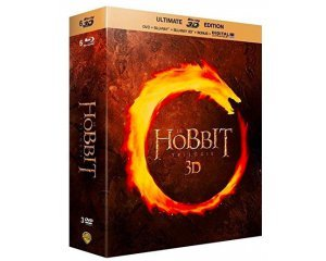 Amazon: Le Hobbit - La trilogie [Ultimate Blu-ray 3D Edition + Blu-ray + DVD + Digital UltraViolet] à 14,90€