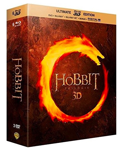 Code promo Amazon : Le Hobbit - La trilogie [Ultimate Blu-ray 3D Edition + Blu-ray + DVD + Digital UltraViolet] à 14,90€