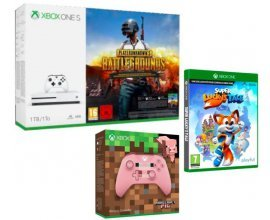 Fnac: Pack Xbox One S 1To + 2e manette Minecraft Pig + PUBG + Lucky's Tail à 229€