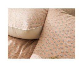 Delamaison: Taie d'oreiller 100% percale coton provençal 65x65cm Nude Occitan à 14,08€ au lieu de 25€