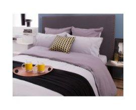 Delamaison: Taie d oreiller reversible bicolo César Anthracite/Gris clair 65x65cm à 4,92€ au lieu de 9,90€